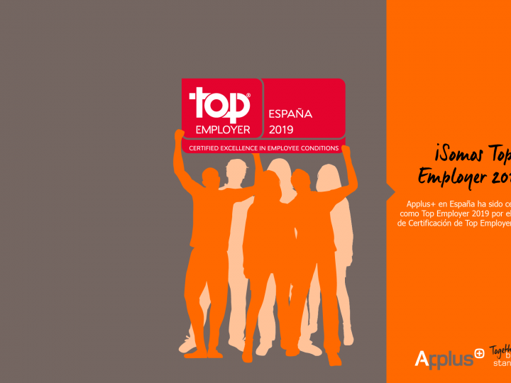 Applus+ ha sido certificado como empresa Top Employer 2019