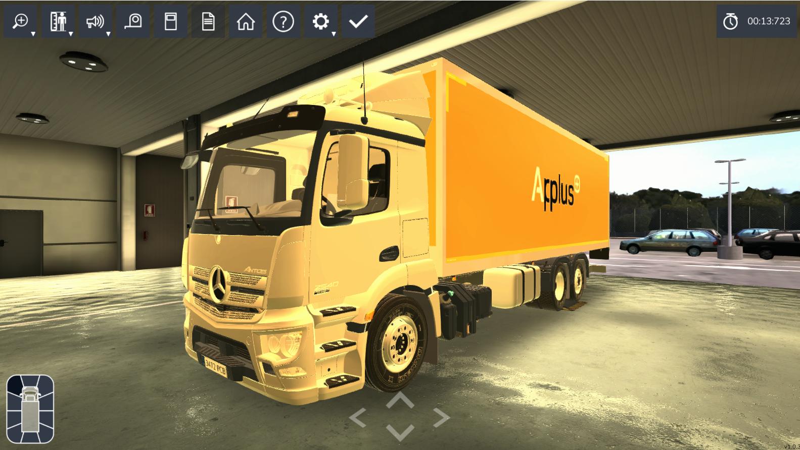Inspección 3D de un camión